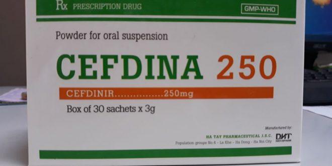 Thuốc cefdina 250 là thuốc gì? có tác dụng gì? giá bao nhiêu tiền?