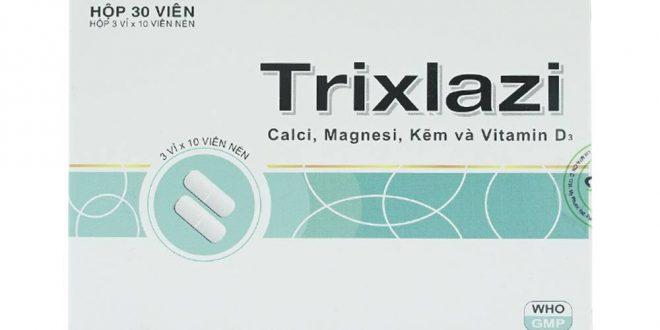 Thuốc trixlazi là thuốc gì? có tác dụng gì? giá bao nhiêu tiền?