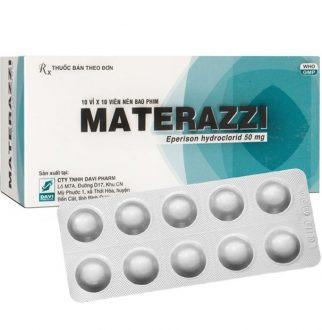 Thuốc materazzi 50mg là thuốc gì? có tác dụng gì? giá bao nhiêu tiền?