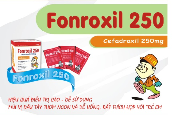 Thuốc fonroxil 250 là thuốc gì? có tác dụng gì? giá bao nhiêu tiền?