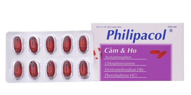 Thuốc philipacol là thuốc gì? có tác dụng gì? giá bao nhiêu tiền?