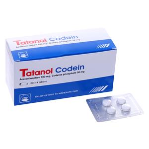 Thuốc tatanol codein là thuốc gì? có tác dụng gì? giá bao nhiêu tiền?
