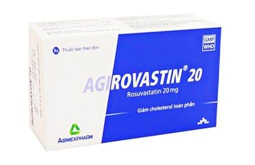Thuốc agirovastin 20 là thuốc gì? có tác dụng gì? giá bao nhiêu tiền?