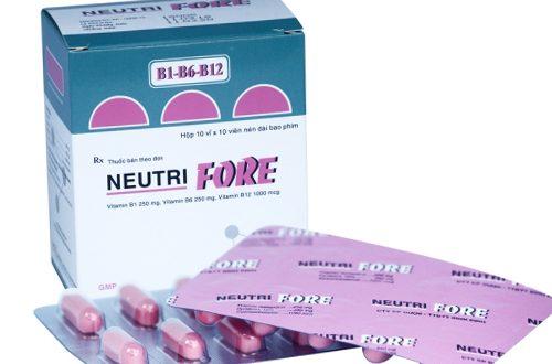 Thuốc neutri fore là thuốc gì? có tác dụng gì? giá bao nhiêu tiền?