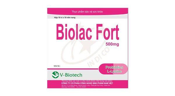 Thuốc biolac fort 500mg là thuốc gì? có tác dụng gì? giá bao nhiêu tiền?