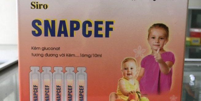 Thuốc snapcef 10ml là thuốc gì? có tác dụng gì? giá bao nhiêu tiền?