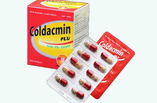 Thuốc coldacmin flu là thuốc gì? có tác dụng gì? giá bao nhiêu tiền?