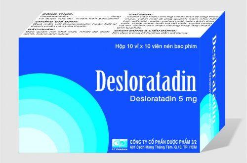 Thuốc desloratadine 5mg ftpharma là thuốc gì? có tác dụng gì? giá bao nhiêu tiền?