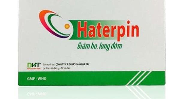 Thuốc haterpin là thuốc gì? có tác dụng gì? giá bao nhiêu tiền?