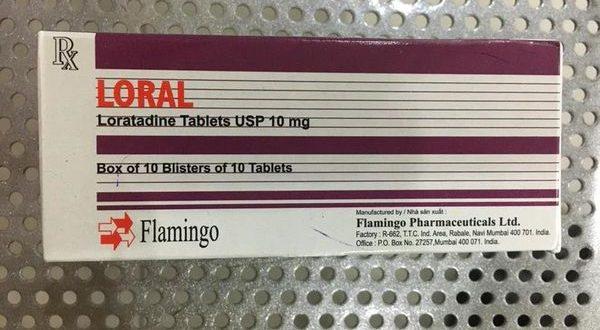 Thuốc loral 10mg là thuốc gì? có tác dụng gì? giá bao nhiêu tiền?