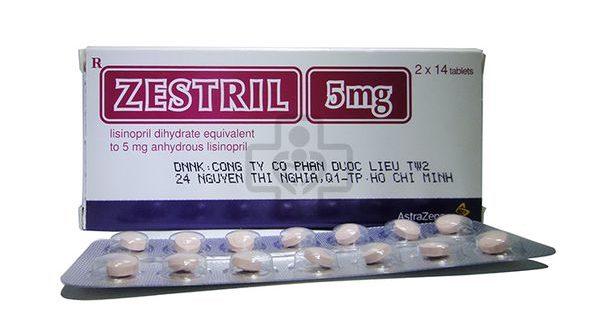Thuốc zestril 5mg là thuốc gì? có tác dụng gì? giá bao nhiêu tiền?