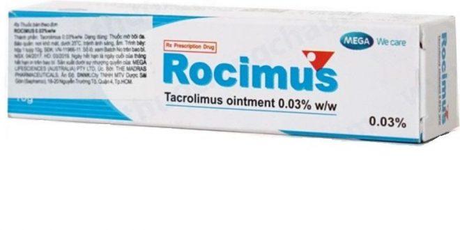 Thuốc rocimus 0.03% là thuốc gì? có tác dụng gì? giá bao nhiêu tiền?