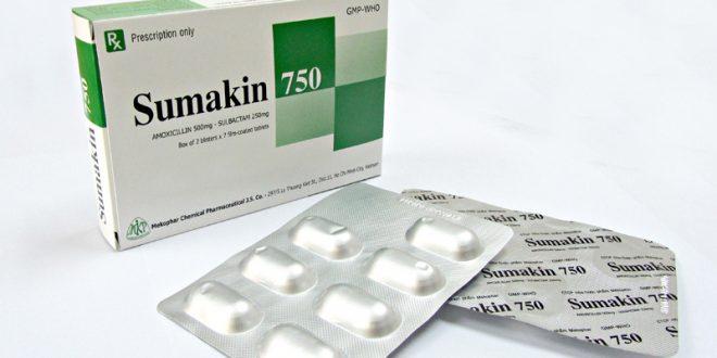 Thuốc sumakin 750 là thuốc gì? có tác dụng gì? giá bao nhiêu tiền?