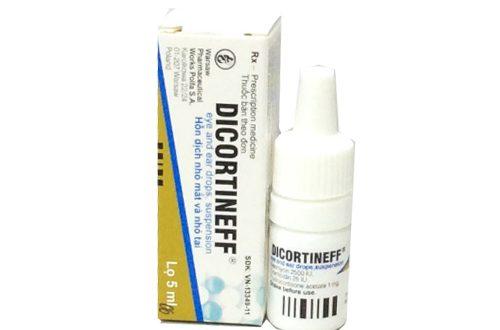 Thuốc dicortineff 5ml là thuốc gì? có tác dụng gì? giá bao nhiêu tiền?