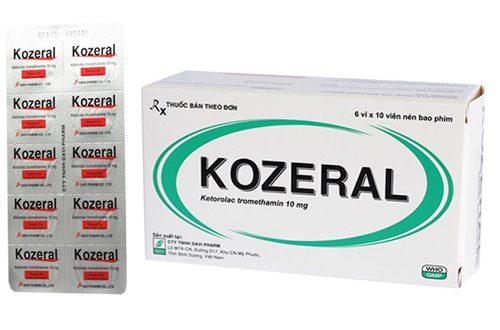 Thuốc kozeral 10mg là thuốc gì? có tác dụng gì? giá bao nhiêu tiền?