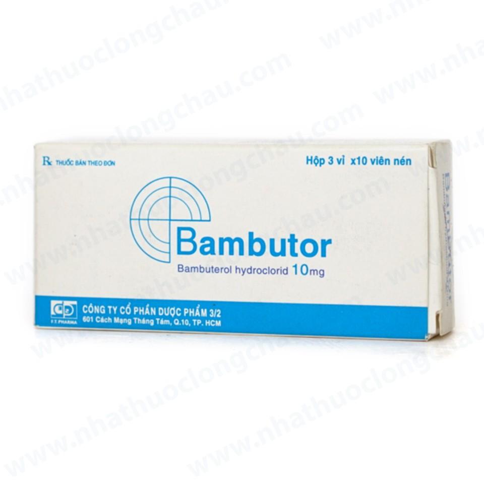 Thuốc bambutor 10 là thuốc gì? có tác dụng gì? giá bao nhiêu tiền?