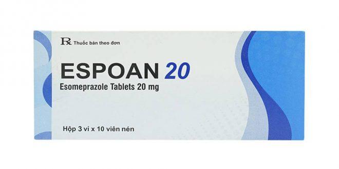 Thuốc espoan 20 là thuốc gì? có tác dụng gì? giá bao nhiêu tiền?