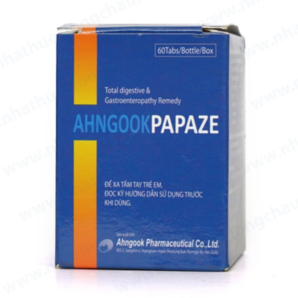 Thuốc Ahngook Papaze tab là thuốc gì? có tác dụng gì? giá bao nhiêu tiền?