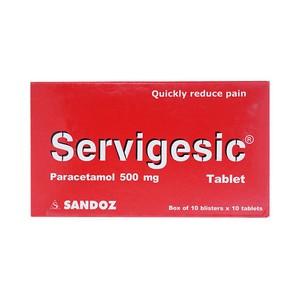 Thuốc servigesic 500 là thuốc gì? có tác dụng gì? giá bao nhiêu tiền?