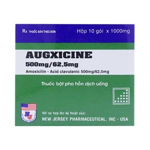 Thuốc Augxicine 500 mg/62,5 mg là thuốc gì? có tác dụng gì? giá bao nhiêu tiền?