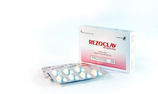 Thuốc rezoclav 500mg/62,5mg là thuốc gì? có tác dụng gì? giá bao nhiêu tiền?