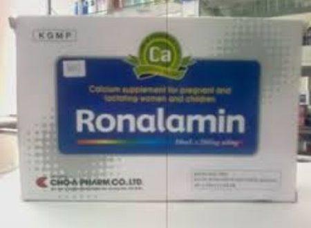 Thuốc ronalamin amp là thuốc gì? có tác dụng gì? giá bao nhiêu tiền?