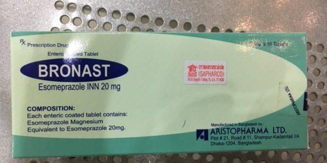 Thuốc bronast 20mg là thuốc gì? có tác dụng gì? giá bao nhiêu tiền?
