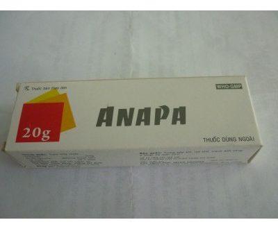 Thuốc anapa cream 20g là thuốc gì? có tác dụng gì? giá bao nhiêu tiền?