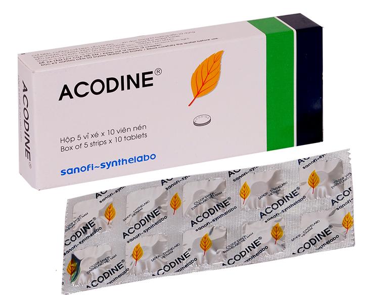 Thuốc acodine là thuốc gì? có tác dụng gì? giá bao nhiêu tiền?