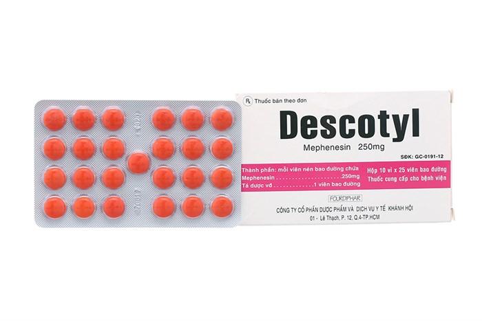 Thuốc descotyl 250 là thuốc gì? có tác dụng gì? giá bao nhiêu tiền?