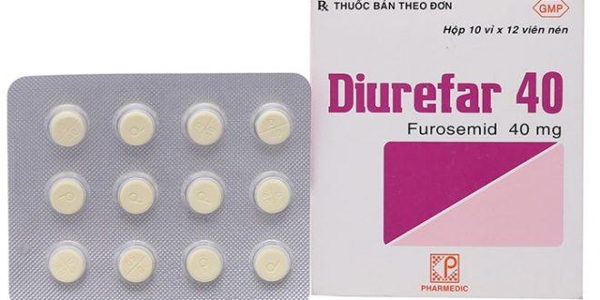 Thuốc diurefar 40 là thuốc gì? có tác dụng gì? giá bao nhiêu tiền?