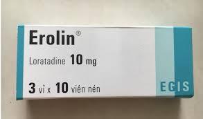 Thuốc erolin 10mg là thuốc gì? có tác dụng gì? giá bao nhiêu tiền?