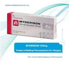 Thuốc myderison 150mg là thuốc gì? có tác dụng gì? giá bao nhiêu tiền?