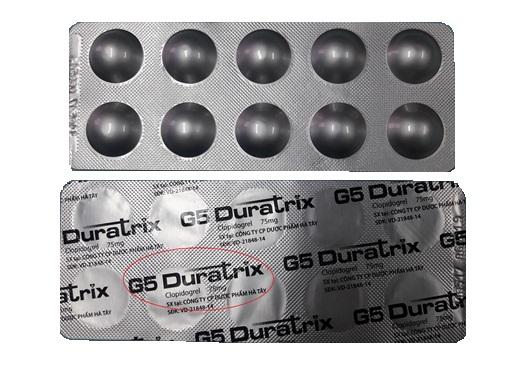 Thuốc g5 duratrix là thuốc gì? có tác dụng gì? giá bao nhiêu tiền?