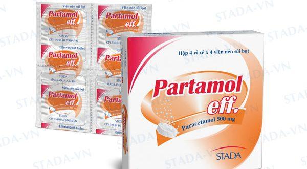 Thuốc partamol eff là thuốc gì? có tác dụng gì? giá bao nhiêu tiền?