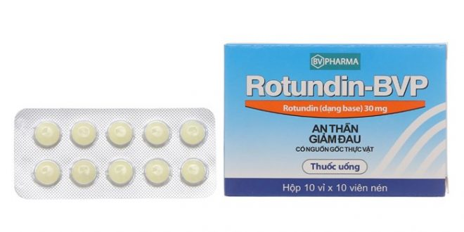 Thuốc rotundin bvp 30mg là thuốc gì? có tác dụng gì? giá bao nhiêu tiền?