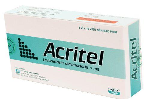 Thuốc acritel 5mg là thuốc gì? có tác dụng gì? giá bao nhiêu tiền?