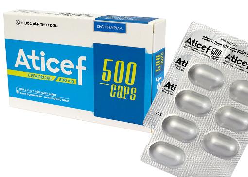 Thuốc aticef 500 là thuốc gì? có tác dụng gì? giá bao nhiêu tiền?