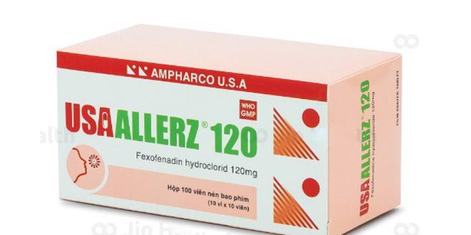 Thuốc usaallerz 120 là thuốc gì? có tác dụng gì? giá bao nhiêu tiền?