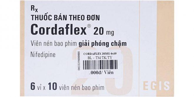 Thuốc cordaflex 20mg là thuốc gì? có tác dụng gì? giá bao nhiêu tiền?