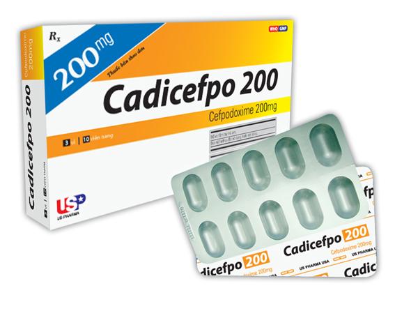 Thuốc cadicefpo 200 là thuốc gì? có tác dụng gì? giá bao nhiêu tiền?