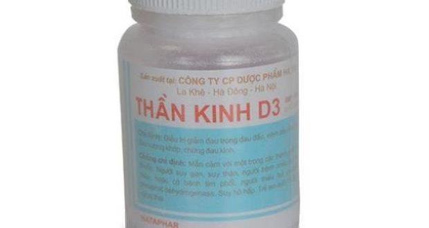 Thuốc Thần kinh D3 Cap là thuốc gì? có tác dụng gì? giá bao nhiêu tiền?
