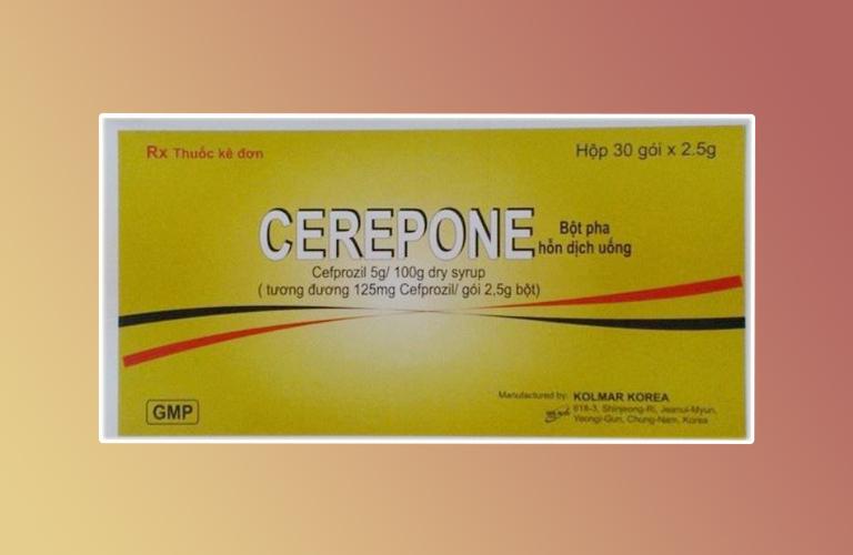 Thuốc cerepone 125mg là thuốc gì? có tác dụng gì? giá bao nhiêu tiền?