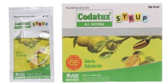 Thuốc siro codatux 100ml là thuốc gì? có tác dụng gì? giá bao nhiêu tiền?
