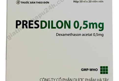 Thuốc presdilon 0.5mg là thuốc gì? có tác dụng gì? giá bao nhiêu tiền?