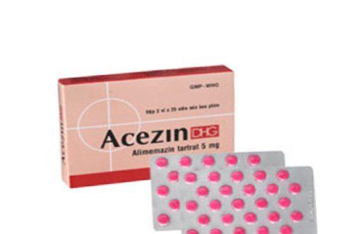 Thuốc acezin dhg 5 là thuốc gì? có tác dụng gì? giá bao nhiêu tiền?