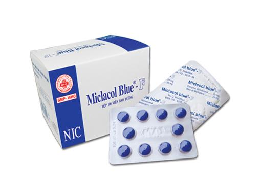 Thuốc miclacol blue f là thuốc gì? có tác dụng gì? giá bao nhiêu tiền?