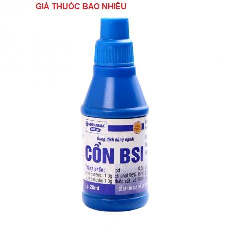 Cồn bsi 20ml là thuốc gì? có tác dụng gì? giá bao nhiêu tiền?