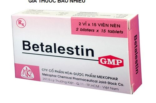 Thuốc betalestin là thuốc gì? có tác dụng gì? giá bao nhiêu tiền?