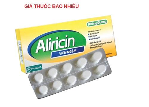 Thuốc ngậm aliricin là thuốc gì? có tác dụng gì? giá bao nhiêu tiền?